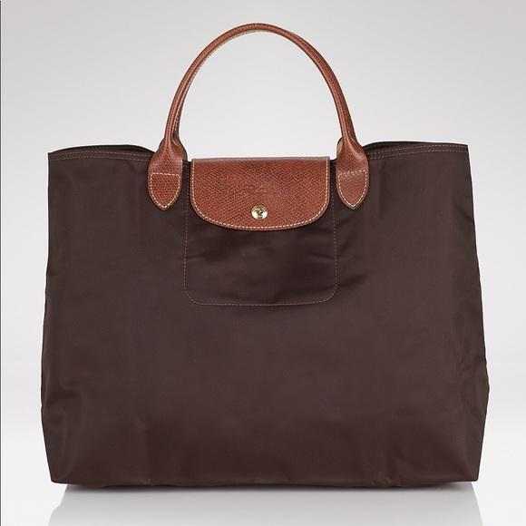 25c10be59e5c7 Longchamp Handbags - Longchamp Le Pliage Open Top Shopper - Beige